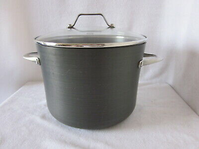 Calphalon Stock Pot and Cover 808 8 Qt Hard Anodized New Made in USA Toledo OH Calphalon Cover