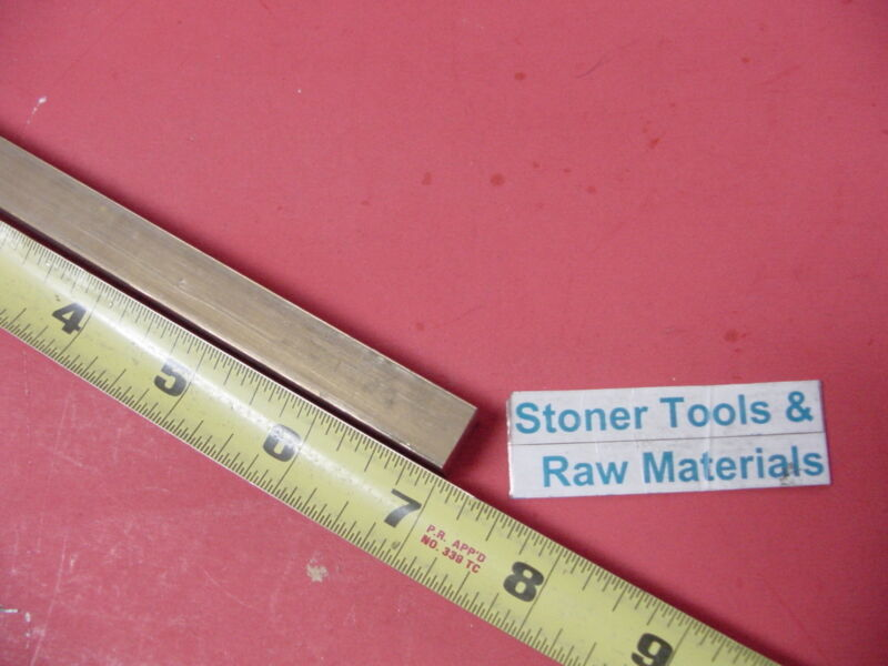 """1/2"""" x 1/2"""" C360 BRASS SQUARE BAR 7"""" long Solid .50"""" Flat Mill Stock H02"""