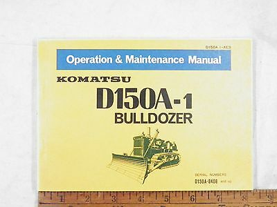 Komatsu D150a-1 Operation Maintenance Manual 8408-