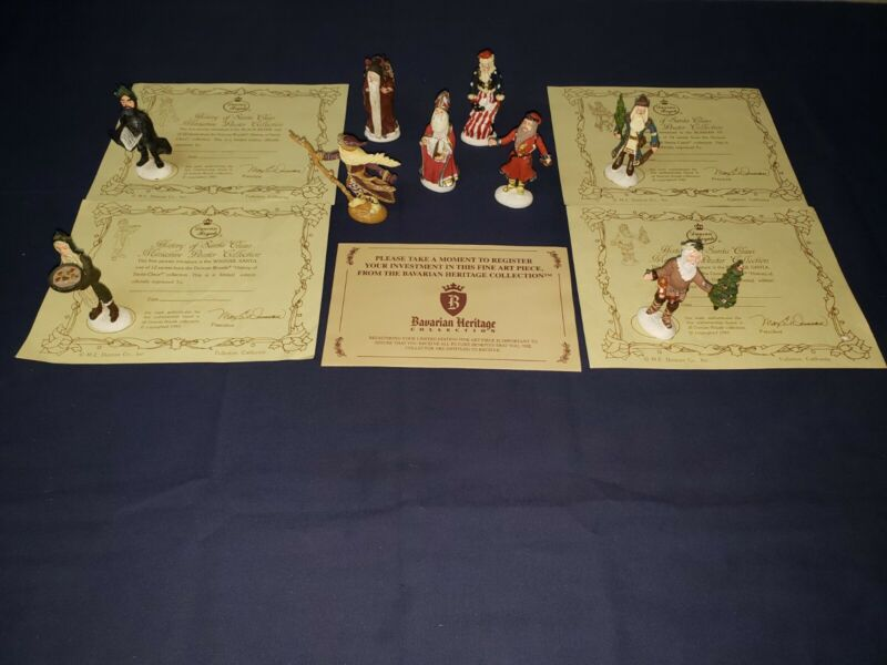 Duncan Royale Miniature Collection History of Santa. 9 out of 12. Incomplete Set