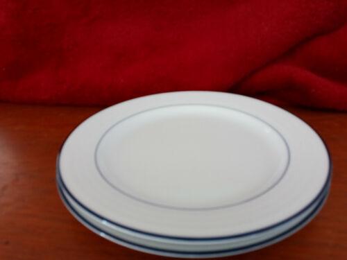 Crate & Barrel Roulette White Blue Dinner Plates SPAL Porcelain