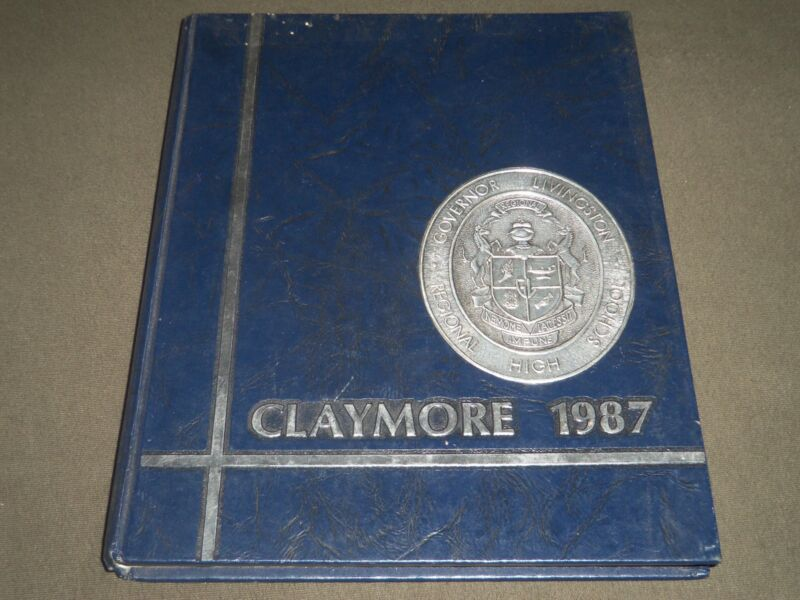 1987 CLAYMORE GOVERNOR LIVINGSTON HIGH SCHOOL YEARBOOK - BERKELEY HTS - YB 963