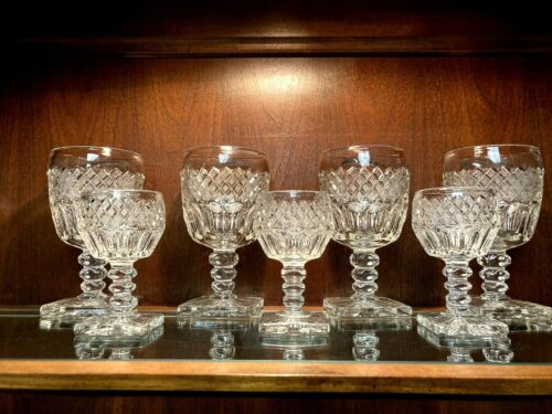 1932 Westmoreland Wakefield Irish Waterford Goblets & Cordials Set of 16
