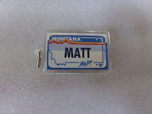 Matt-Name-Montana-License-Plate-Personalized-Key-Chain-Ring-Holder-Souvenir-Tour