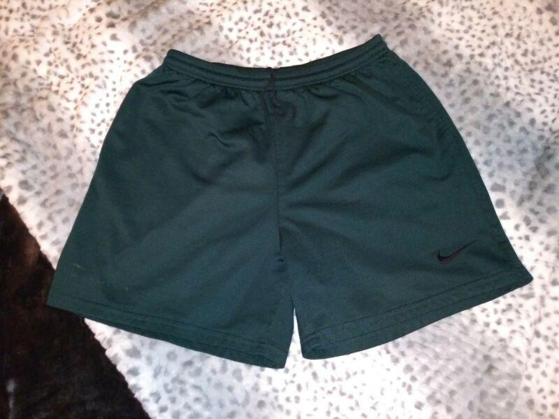 Vintage 1990s Nike White Tag Green Mesh Athletic Shorts