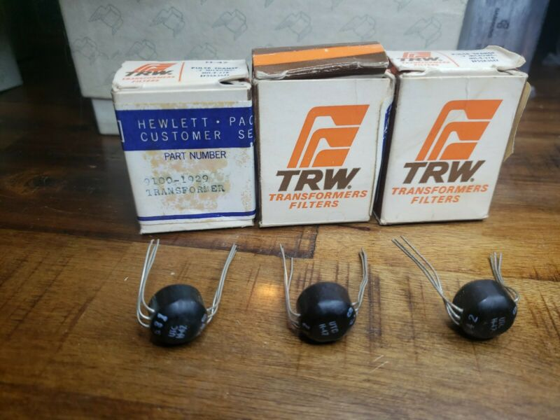 Lot of 3 TRW H-47 MIL-T-27A Pulse Transformers, TF5SX36Z2, .2 Microsec