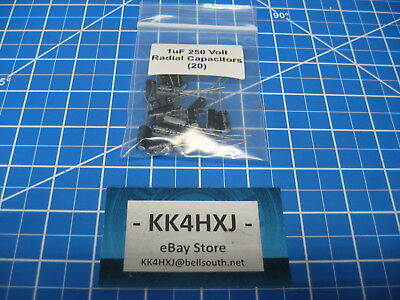 Radial Electrolytic Capacitors - 250v 1uf - Imported - 20 Pieces