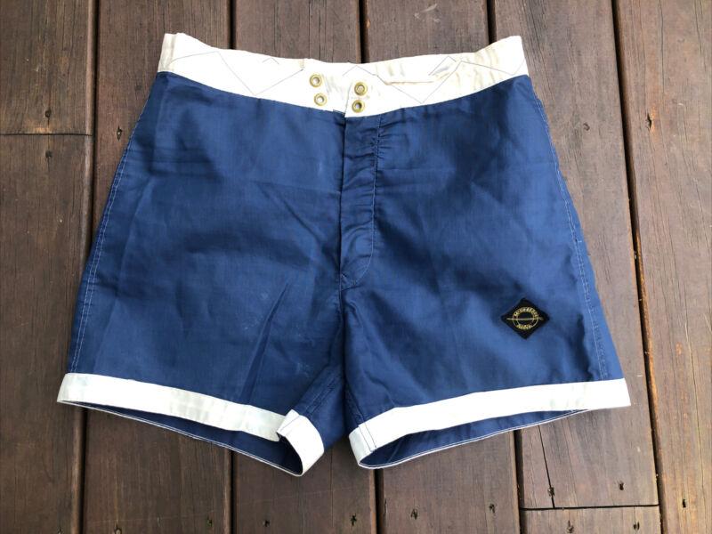 Vintage Mcgregor Hobie Swim N Play Shorts Size 34 USA Surf Trunks 1960s Blue