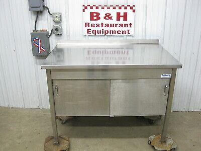 Amtekco Stainless Steel 48 X 30 Heavy Duty Table 2 Door Kitchen Cabinet 4