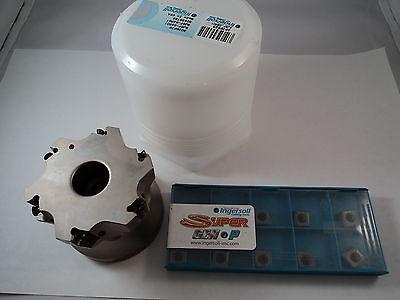 3 Ingersoll Evo Tec Face Mill Sj6f-03r01 And Inserts
