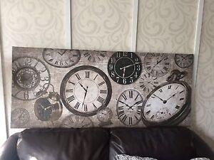 Toile horloge bouclair