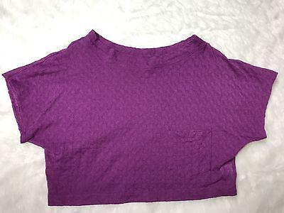 Dolman Crop - Rachel Comey Magenta Pink Textured Basketweave Dolman Sleeve Crop Top SZ L