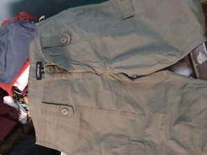 Size 10 army green women's shorts