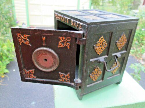 Antique CAST IRON CI SECURITY SAFE DEPOSIT Still Combination Bank 1880