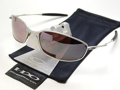 Oakley Whisker OO Black Polarized Sonnenbrille Half Square Blender Wire Wiretap