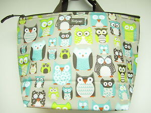 Thirty one lifes a hoot owl thermal lunch box zipper insulated tote