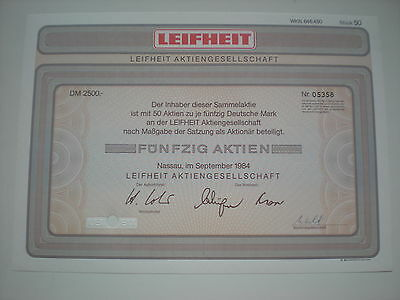 Deutschland - Leifheit AG  50  x   50  DM  1984   1/232-2