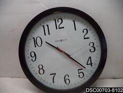 CRACKED FACE: Howard Miller Gallery Black Wall Clock - MIL625166, 16 Diameter