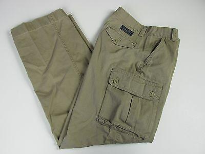 Polo Ralph Lauren Khaki Cargo Pants Mens Young Men Size 18 T4E