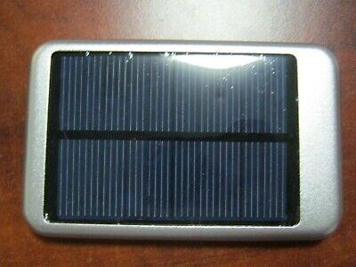 10000mAh Solar Vest-pocket USB External Battery Charger Power Bank Cell Phone slive