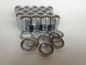 20-x-MAG-ALLOY-WHEEL-NUTS-WASHERS-12mmx1-5-STUD-x-3-4-SHANK-suit-COMMODORE