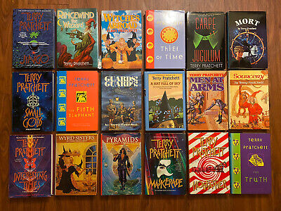 Lot of 18 Hardcovers by Terry Pratchett (Fantasy)