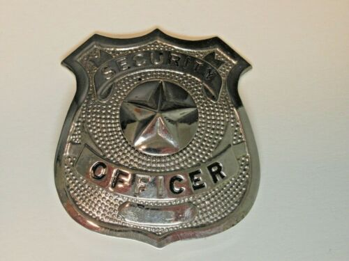 VINTAGE SECURITY OFFICER BADGE 5 STAR CENTER VERY GOOD CONDITION SEE PICS !!!!!!
