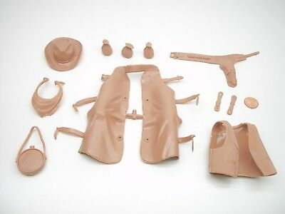 Marx (NEW BEIGE COLOR ACCESSORY LOT) Johnny West Best Of The West Horse Indian