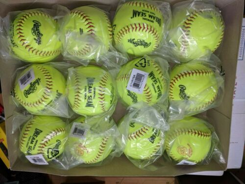 "(DOZEN) Rawlings 11"" ASA Dream Seam Fastpitch Softballs Model C11RYSA"