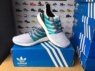 "Men's Adidas""SPEEDFACTORY AM4""Trainers Size UK 6.5-EU 40 White-Green USED ONCE"