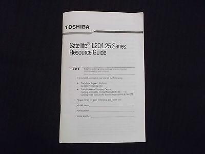 Руководство Toshiba Satellite L20/L25 Manual Resource