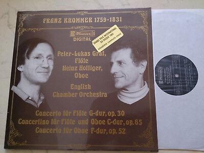 KROMMER Concerto für Flöte ENGLISH CHAMBER ORCHESTRA *CLAVES LABEL*FOC LP*
