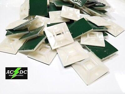 25 Pcs Adhesive Cable Tie Mount Clip 28mm X 28mm Zip Tie Holder Wall Ctm W Ties