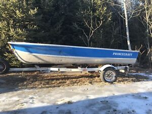 14' Princecraft boat, trailer and motor