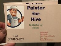 Reputable painter for hire 10 + years experience