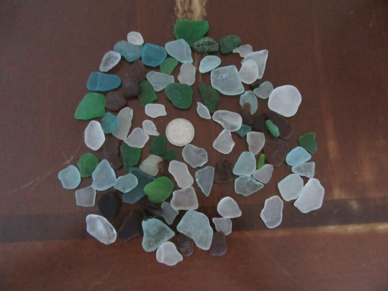Half pound of Handpicked Hawaiian Sea Glass Crafting, Jewelry, variety of colors