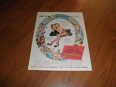 A SONG IS BORN_DANNY KAYE_VIRGINIA MAYO-Original Promo Ad.1949-Very Fine