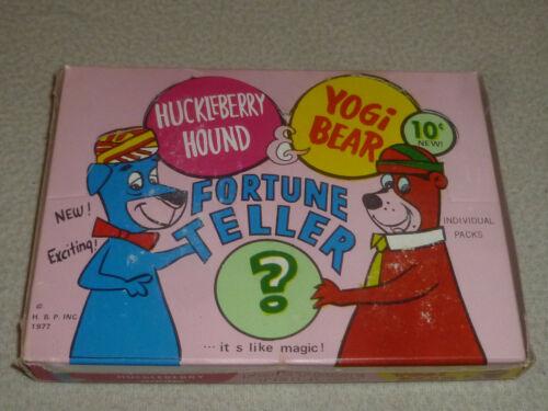 VINTAGE 1977 HUCKLEBERRY HOUND YOGI BEAR FORTUNE TELLER BARBERA DISPLAY BOX RARE
