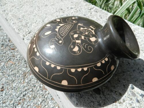 Vintage Cusco Peru Inca ceramic clay pot pottery Art ,EXCELLENT