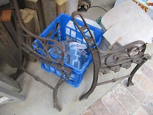 Cast iron bench seat ends West End Brisbane South West Preview