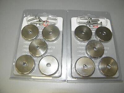 10-pack Neo Magnetics N50 Neodymium 1.3 Stainless Steel Magnets 100 Lb Wscrews