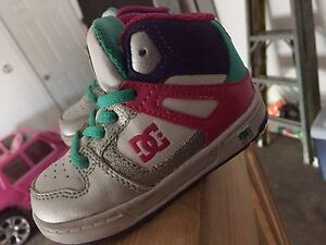 Size 5T girls DC shoes. Gently worn