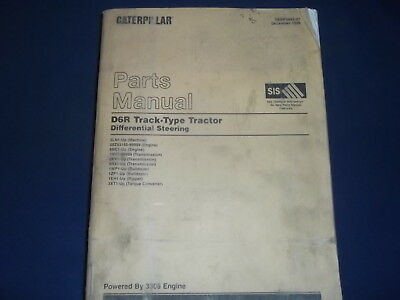 CAT CATERPILLAR D6R TRACTOR DOZER BULLDOZER PARTS MANUAL S/N 5LN1-UP, used for sale  Union