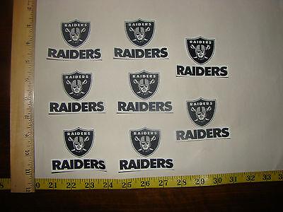 (8 Oakland Raiders Fabric Applique Iron On Ons Set 2)