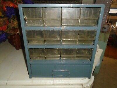 Vintage Metal Drawer Nutbolt Small Parts Storage Cabinet Bin Organizer