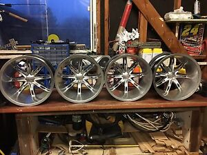 "14""x8"" Vision Wheels rims 4x110mm bolt pattern"