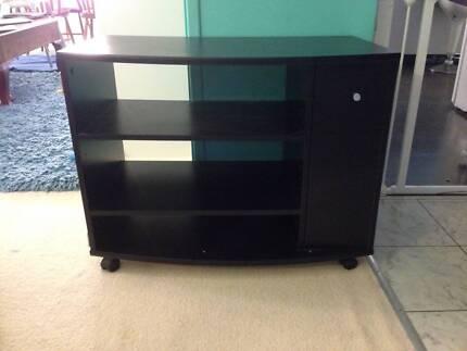 Black TV cabinet Pendle Hill Parramatta Area Preview