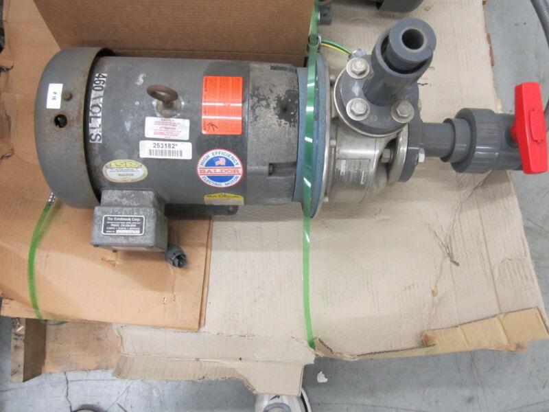 Baldor 3 phase Motor JMM37091 and G&L Pump SSH 1MP DIA 1x2-8 10SHK1