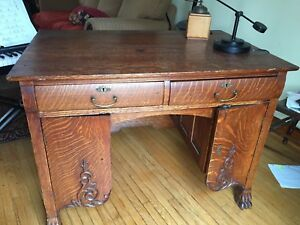 Antique hardwood desk