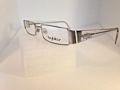Byblos Eyeglasses Woman b844 Eyeglasses Woman Silver/Clear 51-18-135 Store (Reading Glasses Stores)